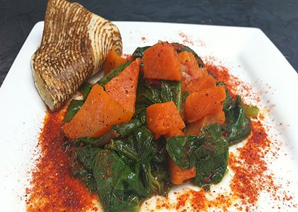 Spinach with Sweet potato